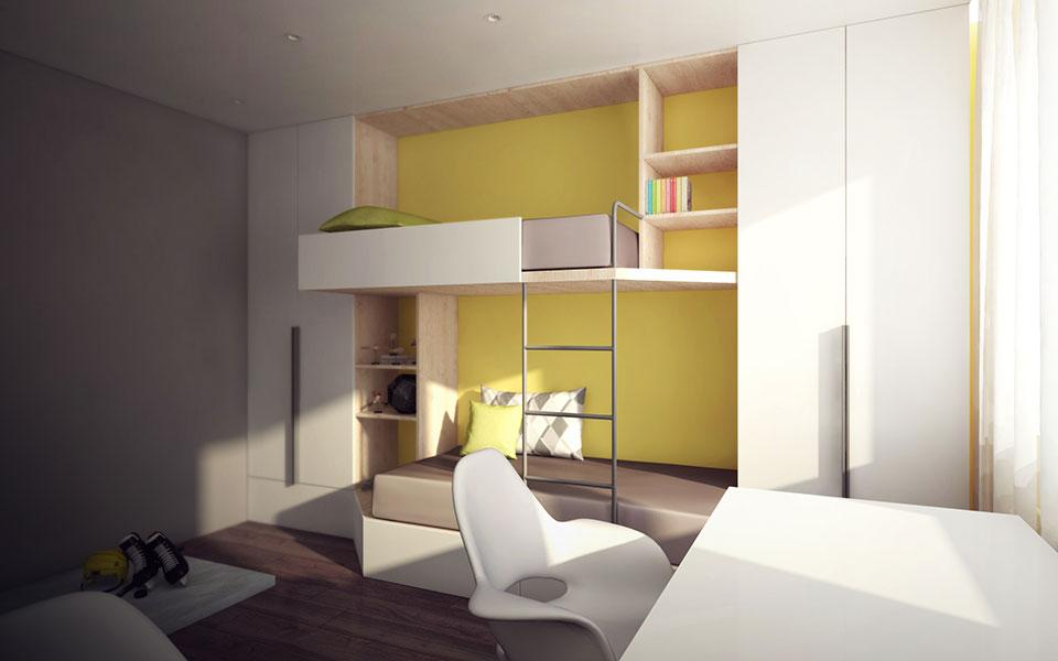 дизайн москва - интерьер детской комнаты