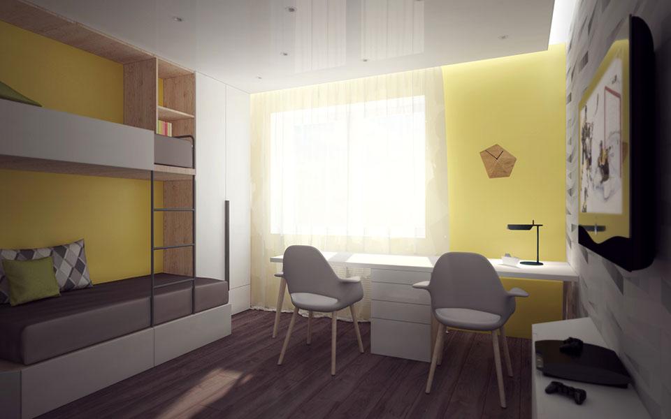 дизайн квартиры москва - интерьер детской