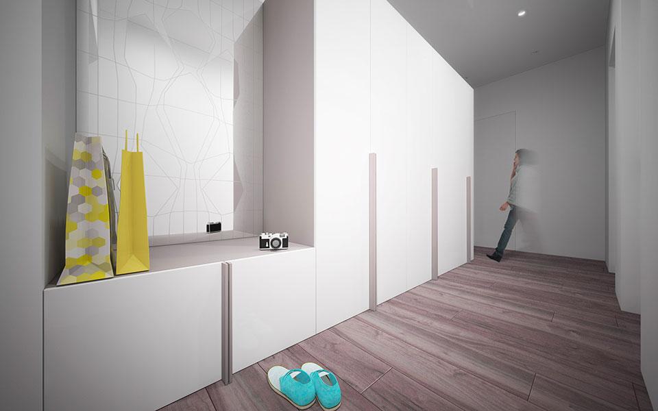 дизайн квартиры москва - интерьер прихожей