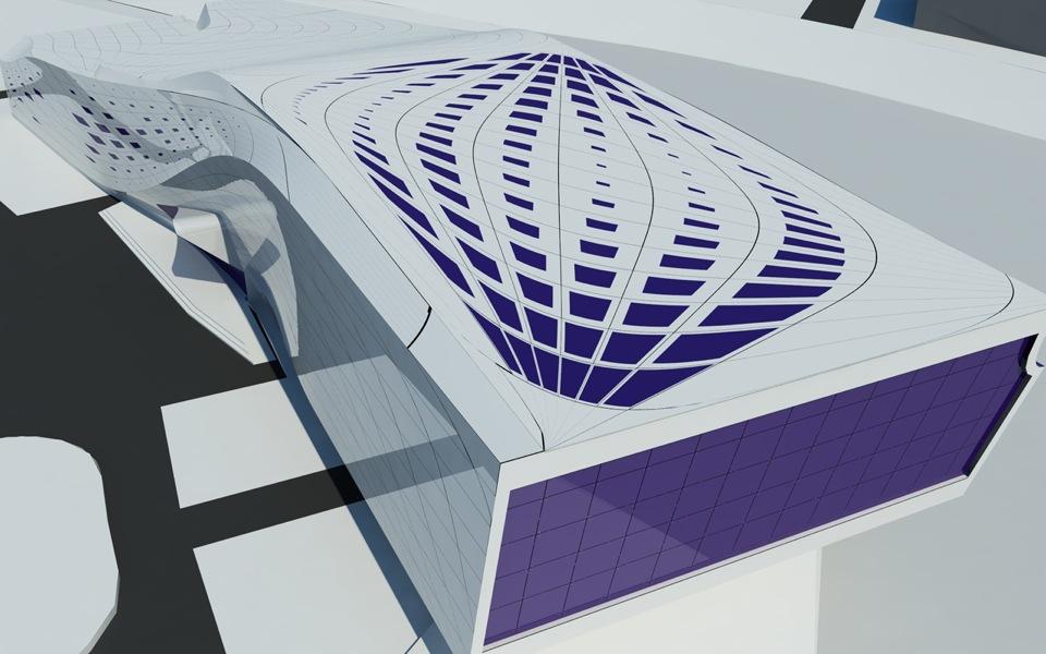параметрична архітектура панелізованого даху будівлі