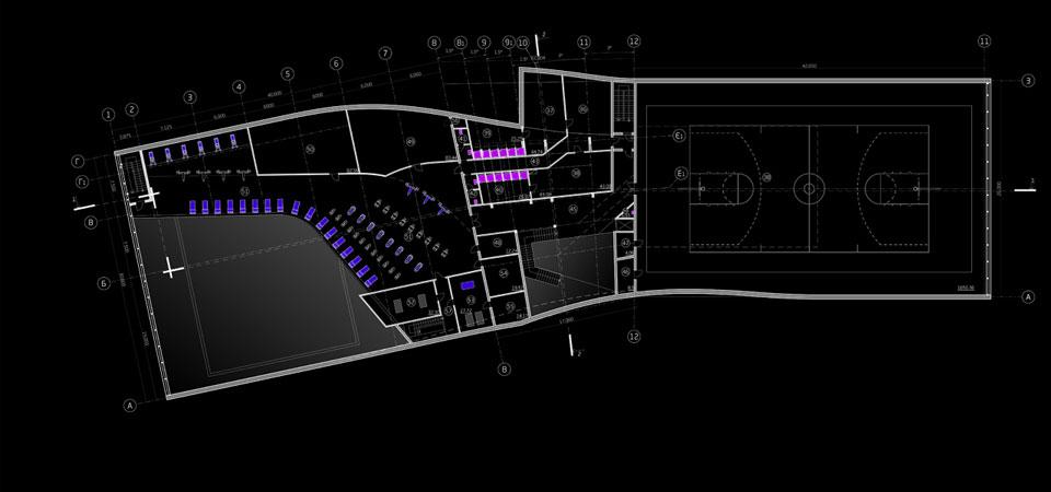 план другого поверху спортивної будівлі