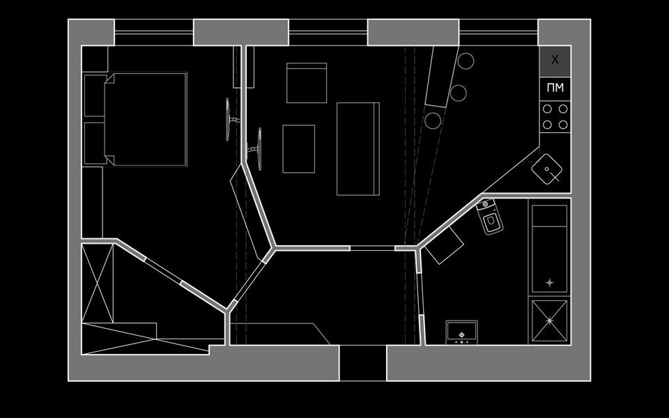 план квартири - діаграма вороного