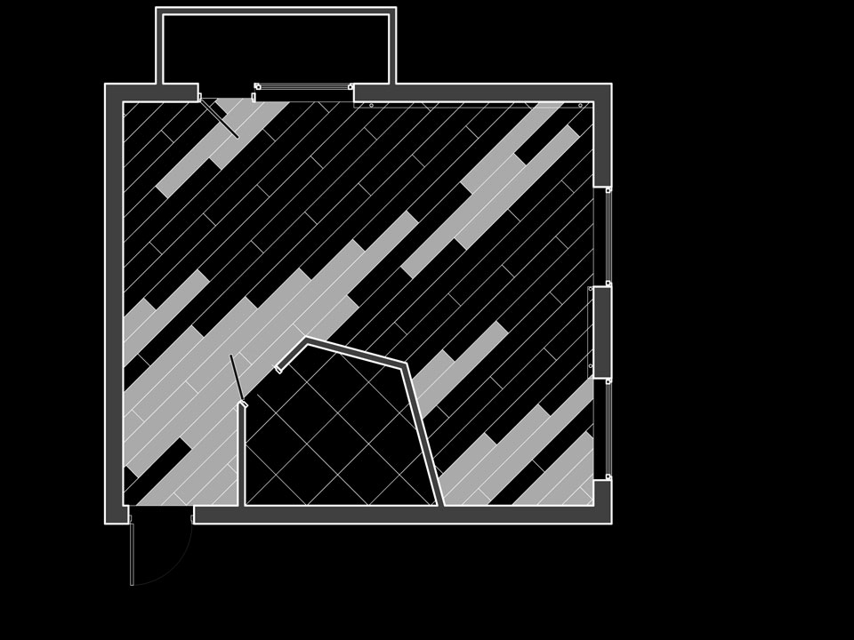 план підлоги в хрущовці-студії