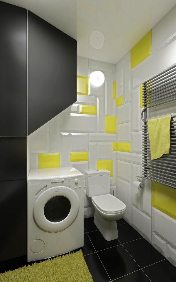 дизайн інтер'єру чорного туалету