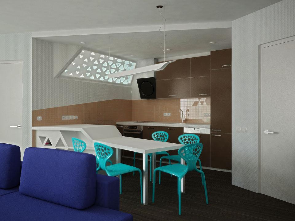 інтер'єр кухні в київській квартирі