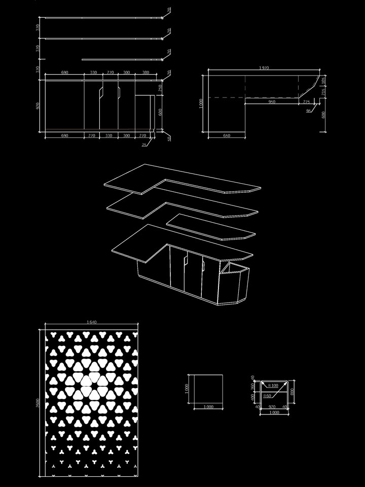креслення полиць в коморі + параметричні криві на шафі