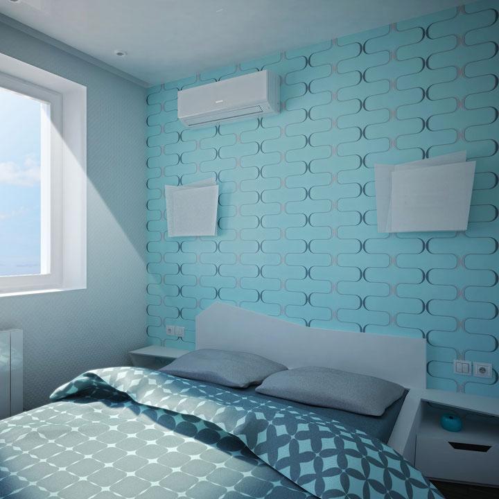 інтер'єр спальні з індивідуальними меблями