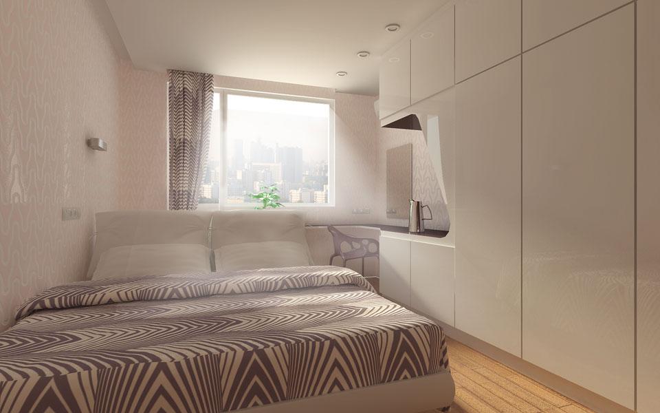 дизайн спальні в квартирі без санвузла
