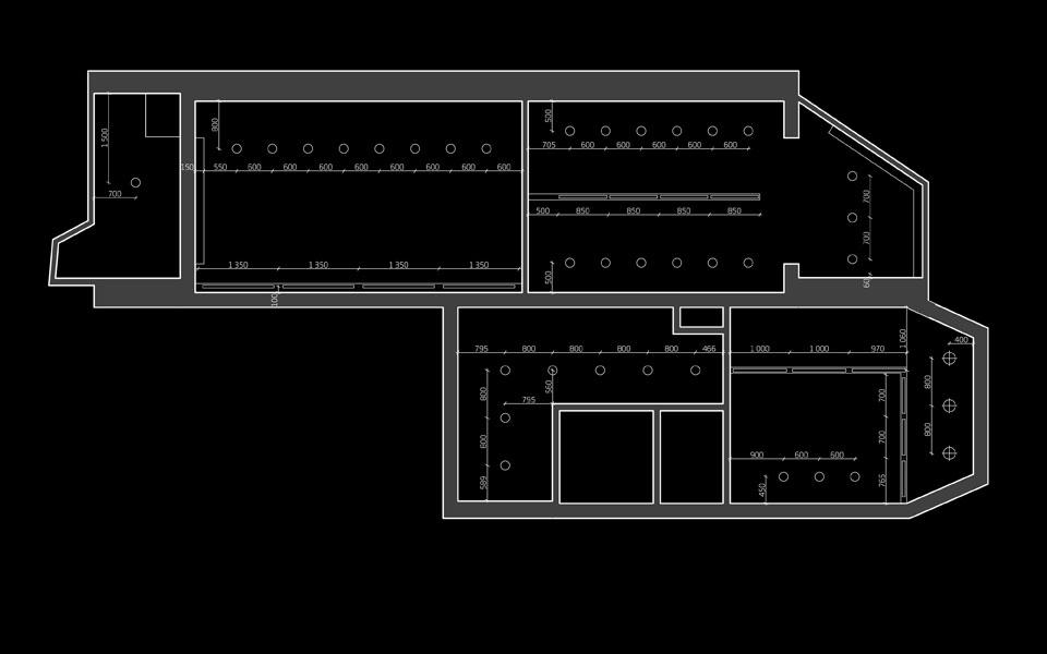схема розміщення освітлювальних приладів