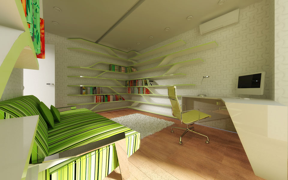 дизайн кабінету в житловій квартирі