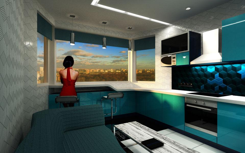 вечірня візуалізація кухні