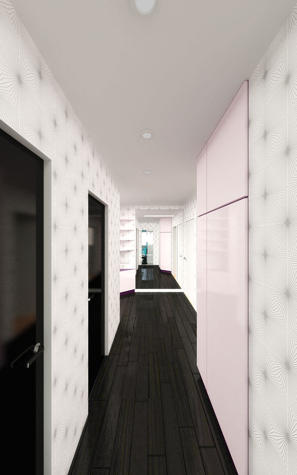 дизайн інтер'єру коридору двокімнатної квартири