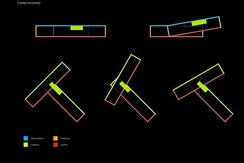 схема інсоляції сучасного суші-бару