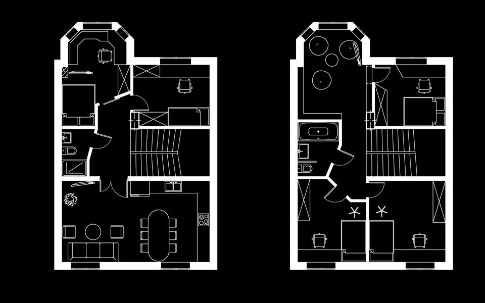 Планування чотирьохповерхового таунхаусу в Щербинці