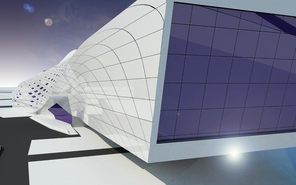 архітектура фітнес клубу бориспіль - параметричний дизайн