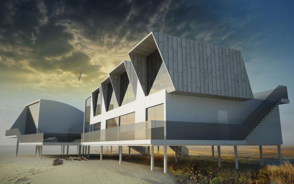 архітектурний проект будинку мисливця азовське море
