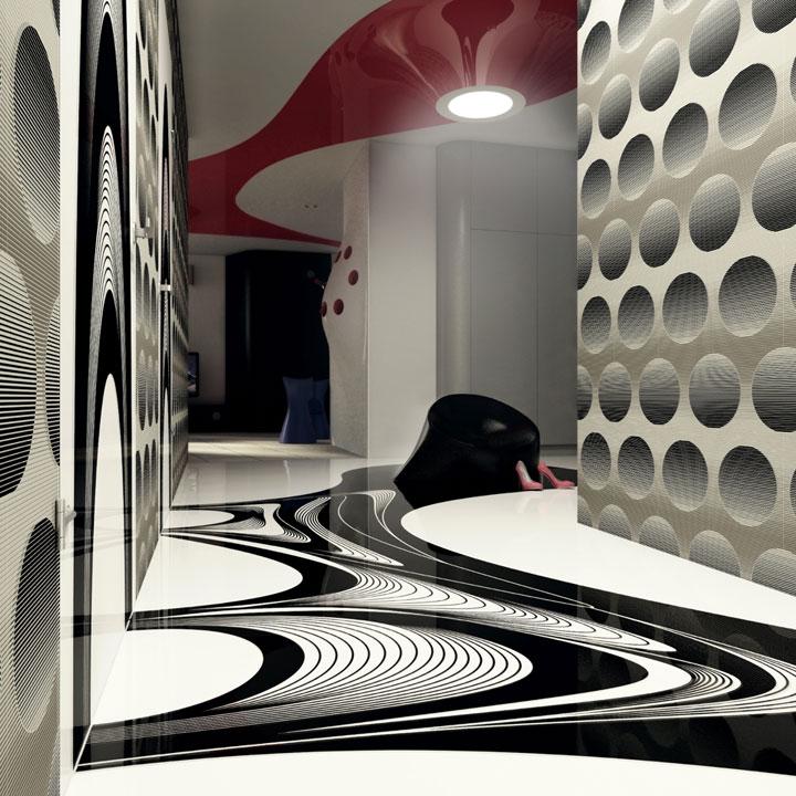 дизайн інтер'єру хола в київській трикімнатній квартирі
