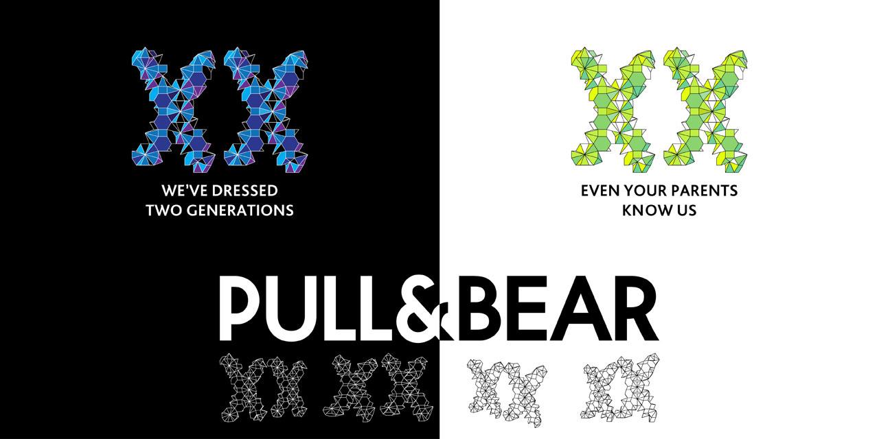 графічний дизайн - параметричний логотип pull and bear