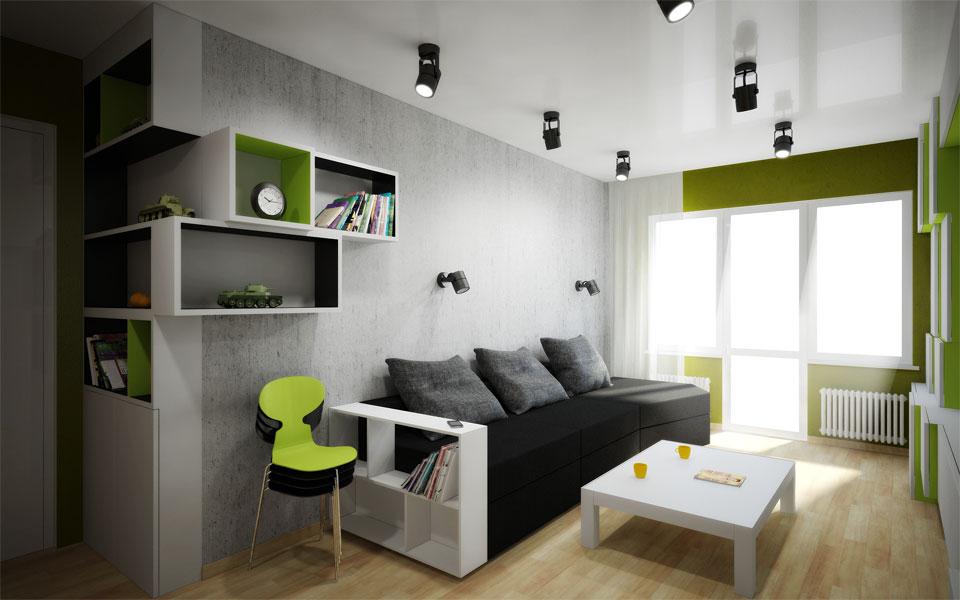 параметричний дизайн інтер'єру кімнати в москві