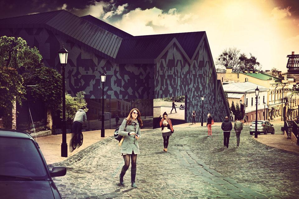 архітектурна концепція культурного простору на андріївському узвозі