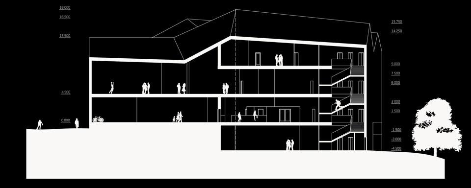 архітектурний розріз культурного простору на узвозі
