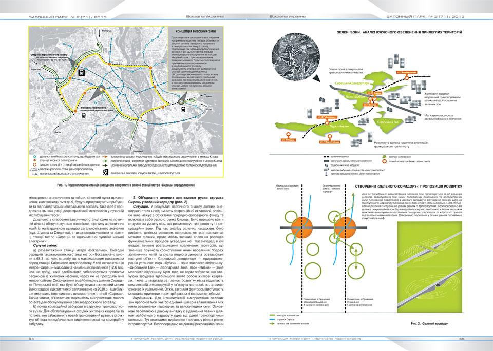 вагонний парк - наукова публікація з архітектури