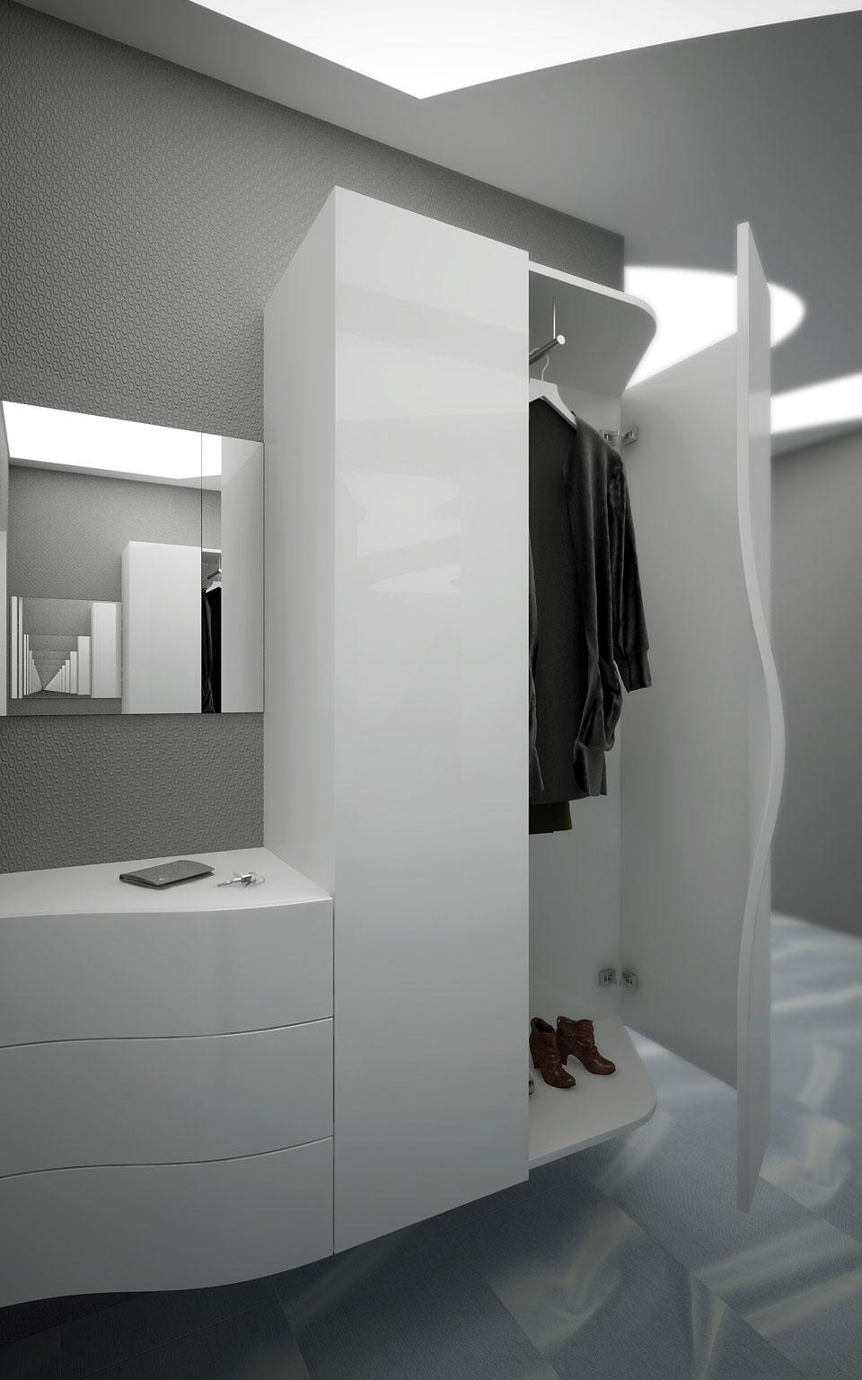 параметричний дизайн інтер'єру коридору, київ