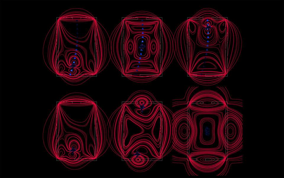 параметрична архітектура - діаграма магнітних полів