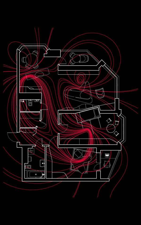 параметрична дизайн квартири - магнітне поле