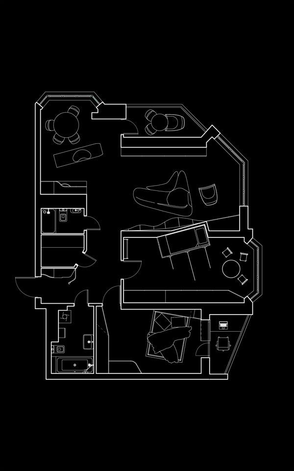 палан квартири - параметричний дизайн, київ