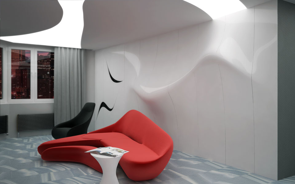 космічний сучасний дизайн квартири у києві