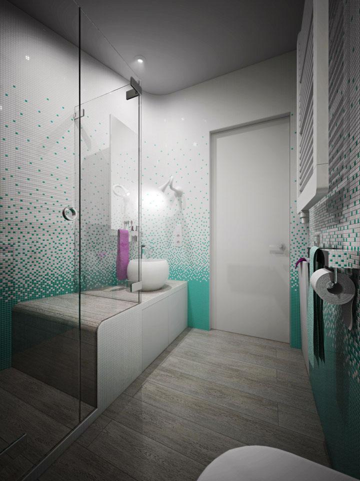 дизайн ванної кімнати в жк комфорт таун