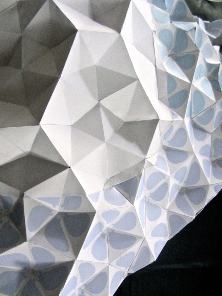 теселяція п'ятикутником - концепт павільону барвінок