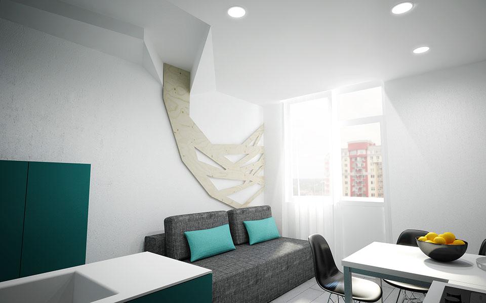однокімнатна квартира в жк ліко град дизайн