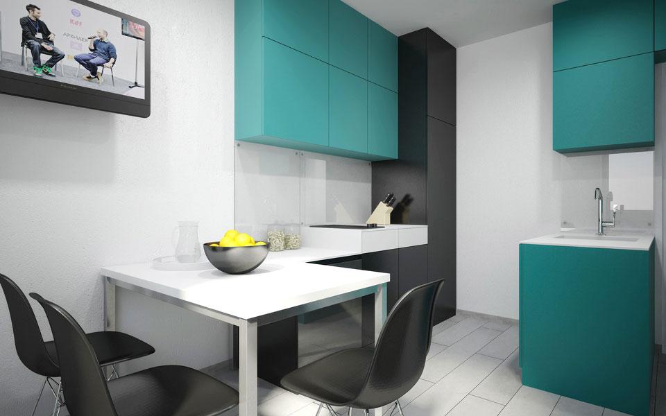 лікоград - дизайн інтер'єру однокімнатної квартири