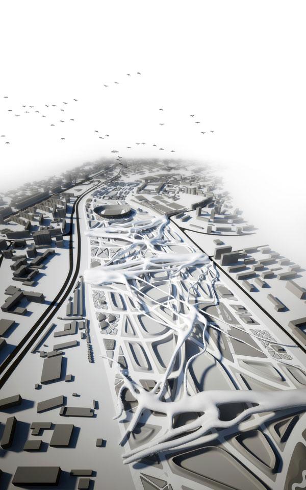 вагонне депо київ - параметрична архітектура