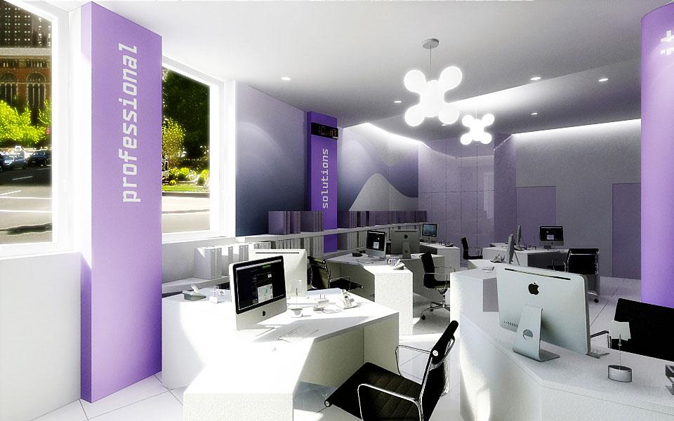 параметричний інтер'єр - дизайн офісу компанії