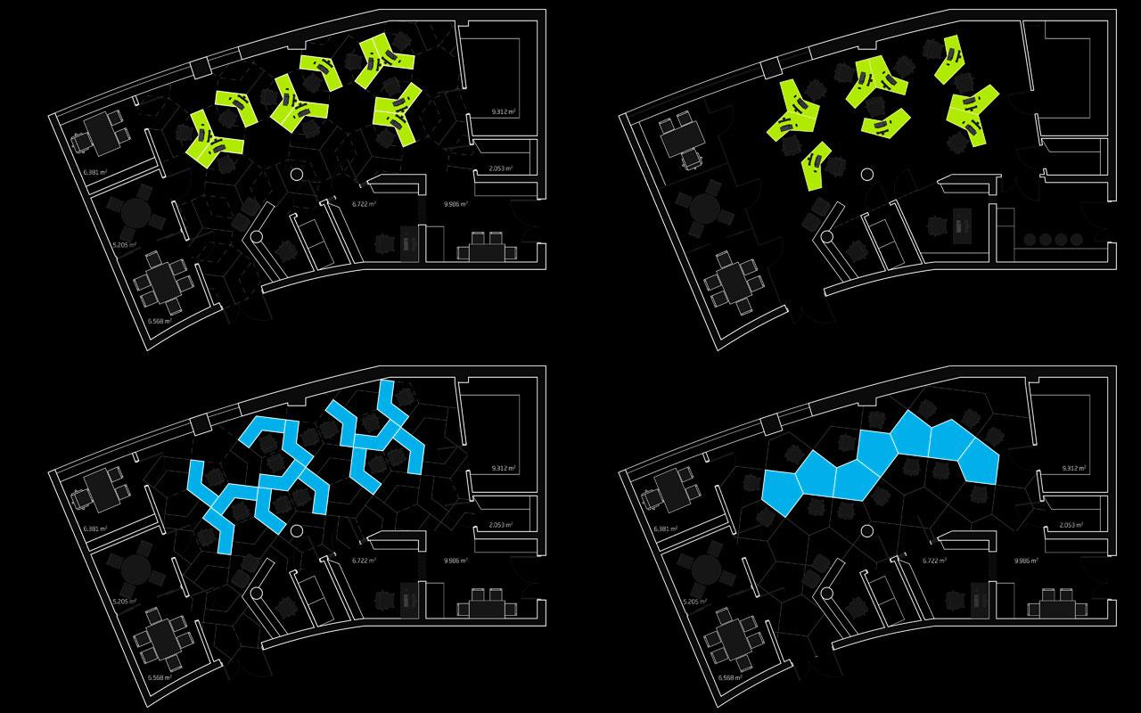 параметрична архітектура - план приміщення офісу