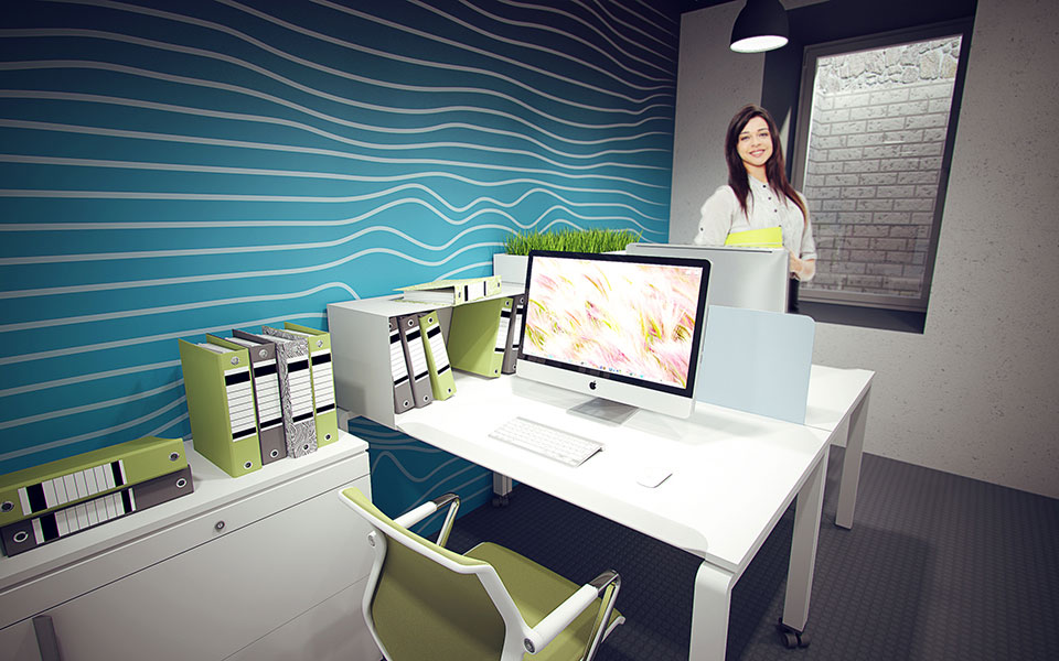 дизайн підвального приміщення - інтер'єр офісу