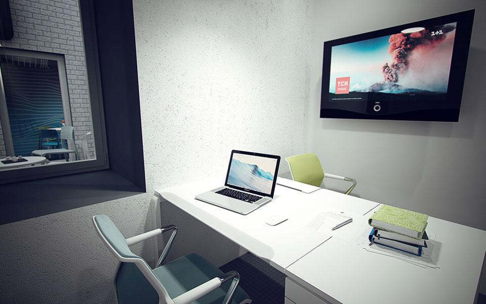 офіс закритого типу - дизайн інтер'єру