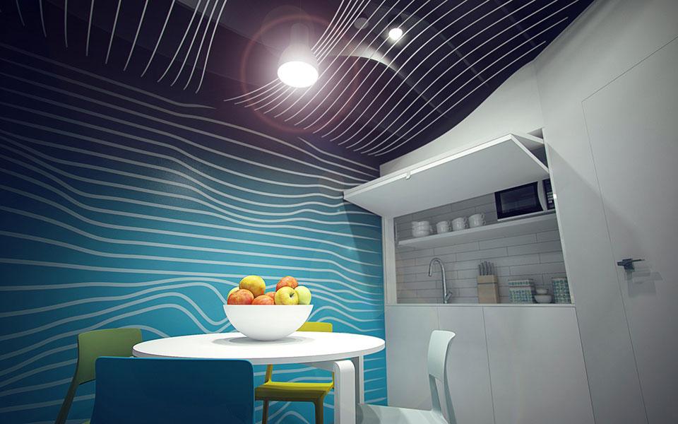 дизайн офісу київ - кухня-ніша