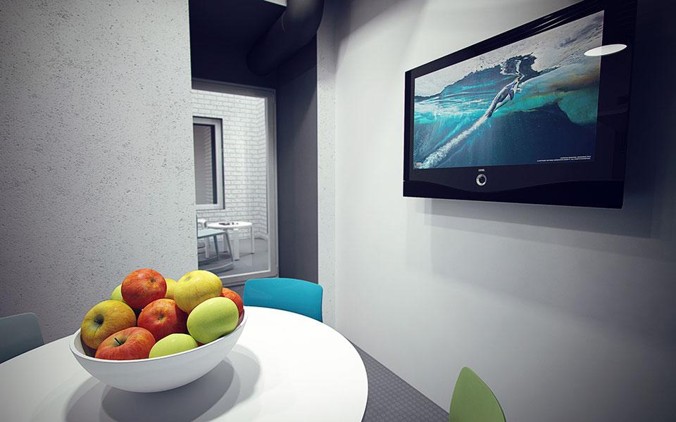 кухня в офісі - параметричний дизайн київ