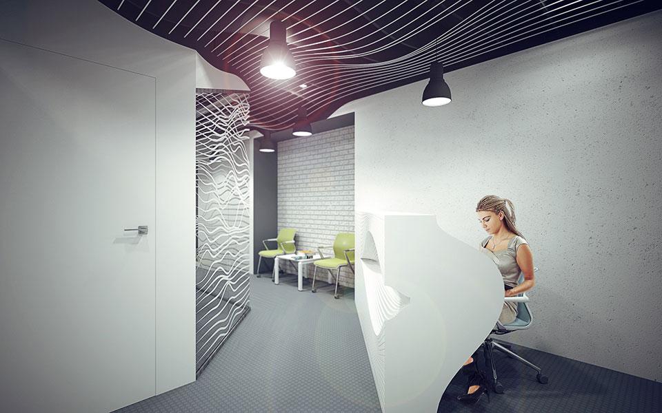 параметричний дизайн рецепції - офіс киїа