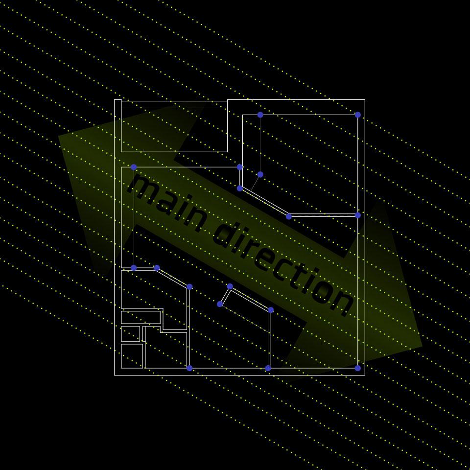 дизайн інтер'єру москва - план однокімнатної квартири