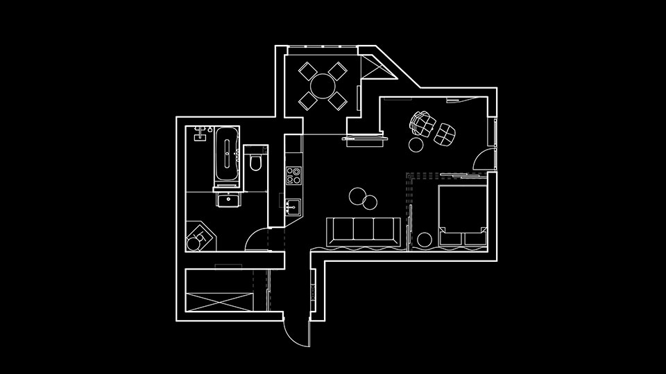 дизайн сучасної квартири у києві - план