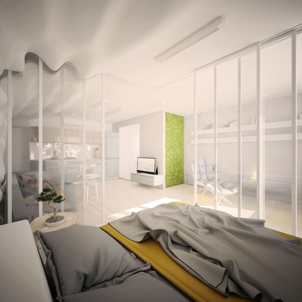 дизайн квартири київ - інтер'єр опенспейсу