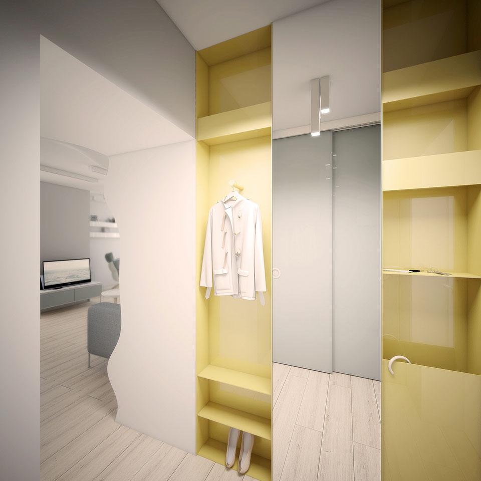 коридор в дизайні київської квартири
