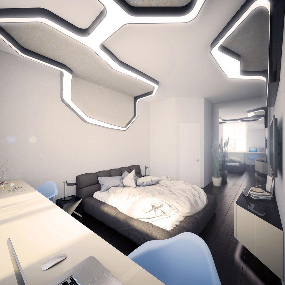 інтер'єр квартири москва - дизайн спальні