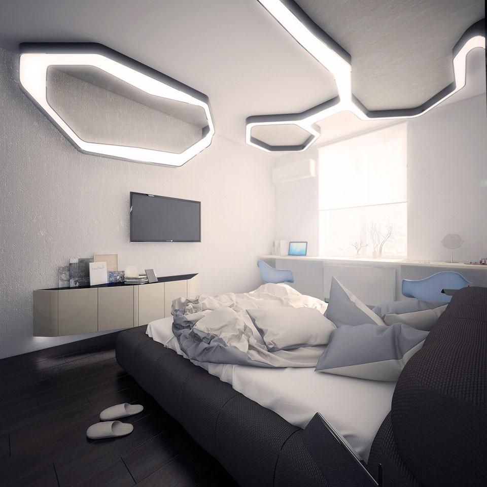 дизайн квартири москва - інтер'єр спальні