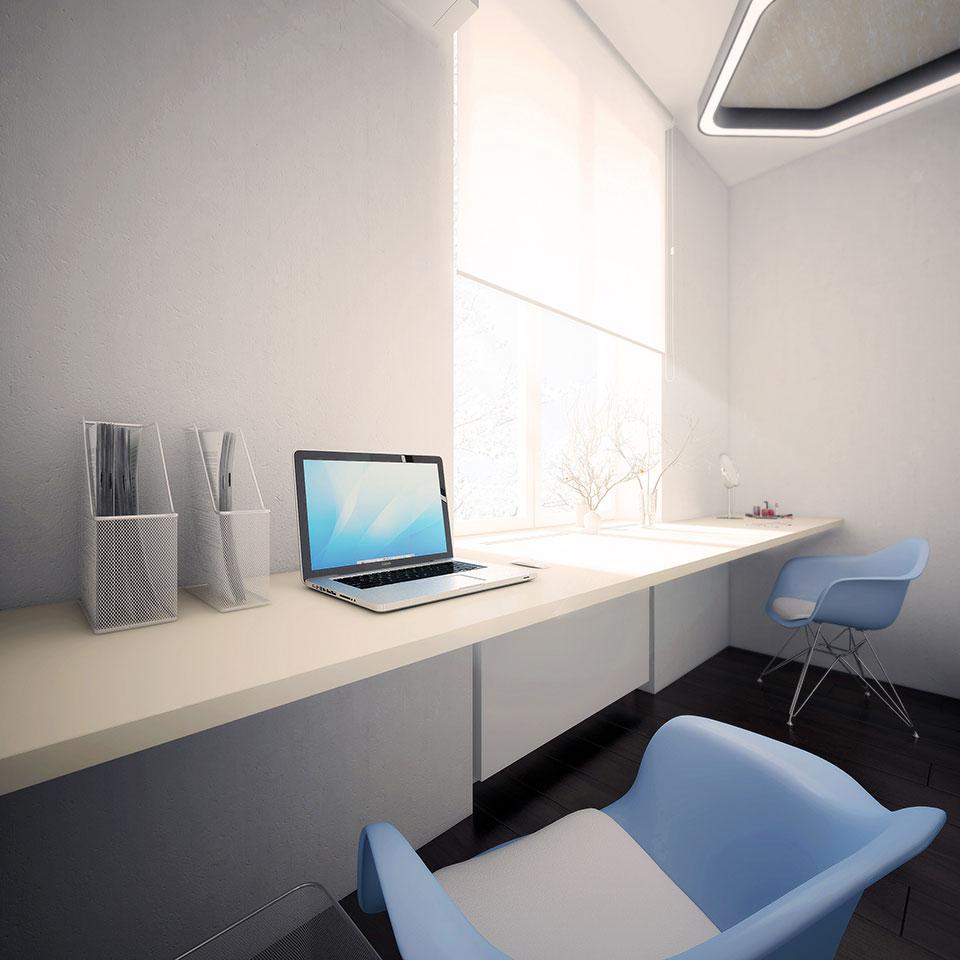 інтер'єр квартири москва - дизайн кабінету